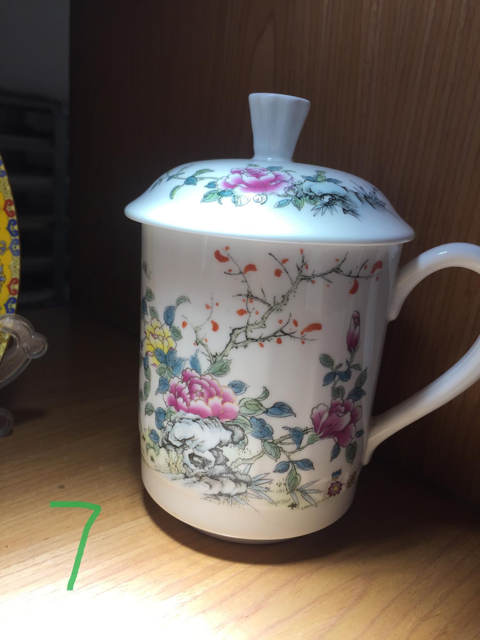 杯子图案---富贵花类