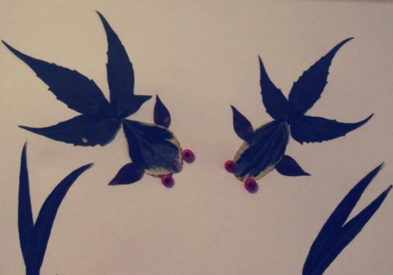 创意树叶画